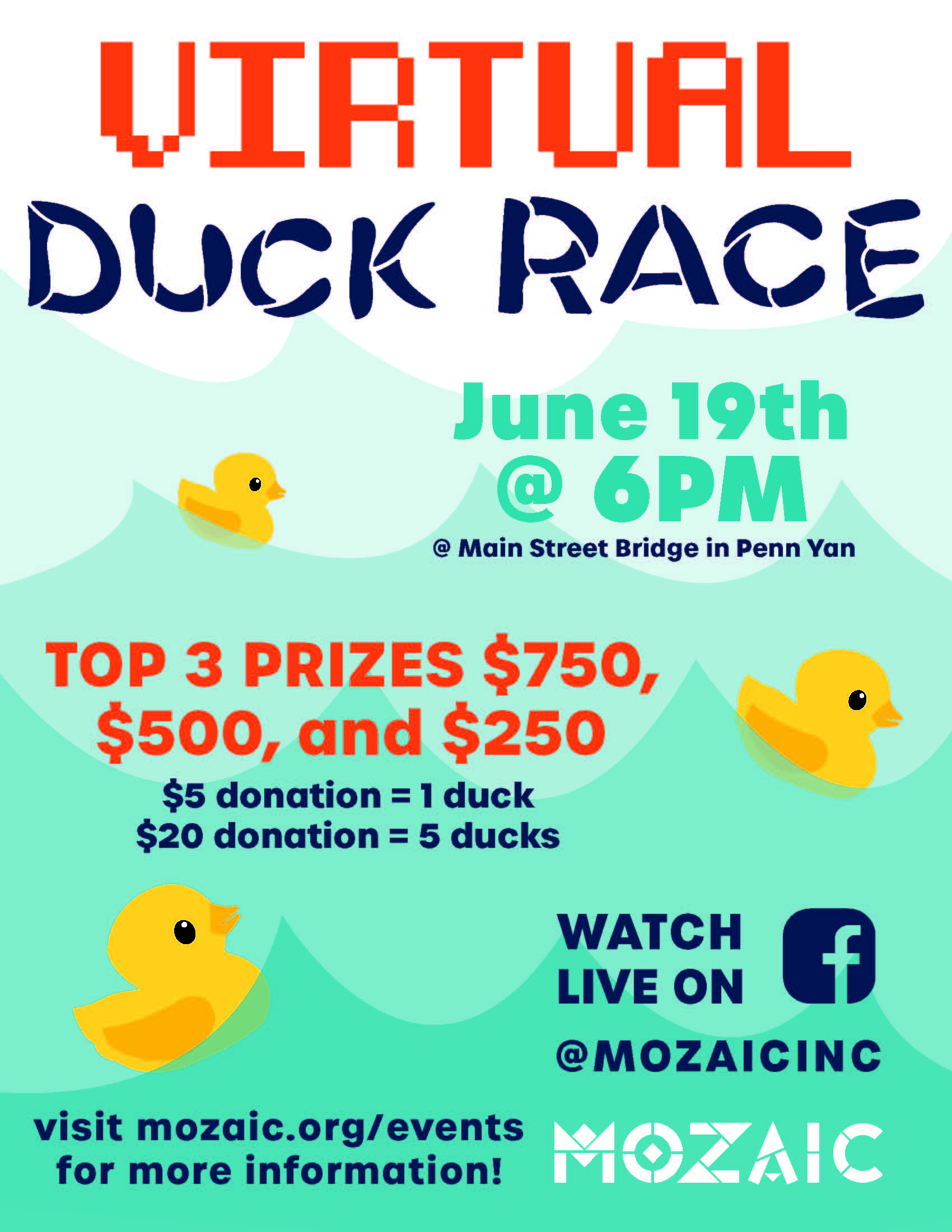 Mozaic Duck Race